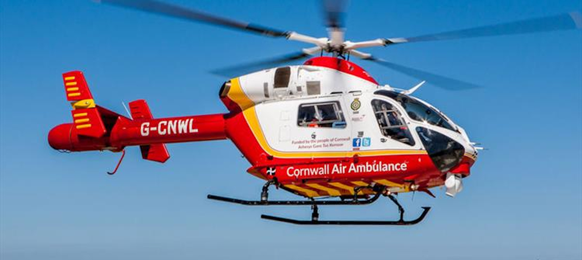 cornwall air ambulance rescuing victim of killer cows